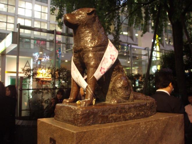 Hachiko's statue