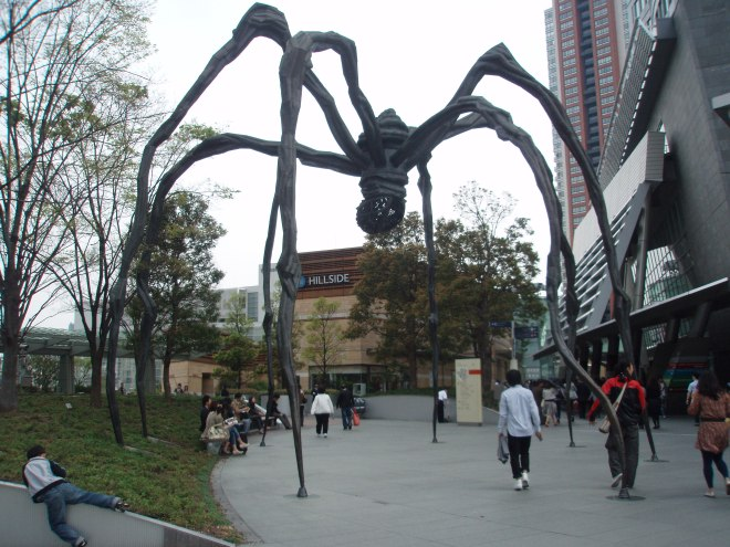 Louise Bourgeois' spider at the Mori Arts Centre