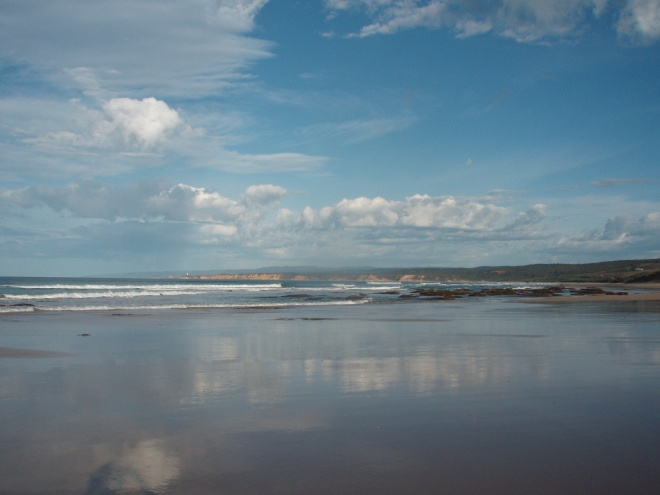 Morning view of the 'Back' Beach - popular with surfers, walkers and dog walkers