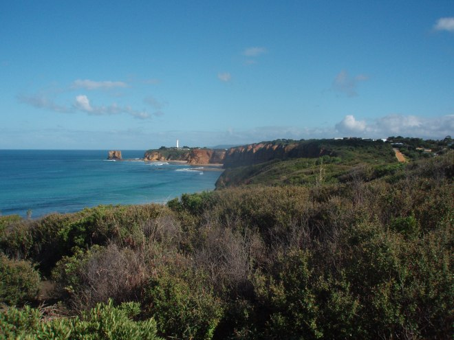 Looking towards Aireys Inlet and the Lighthouse