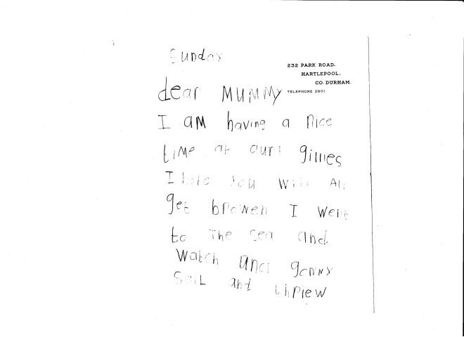 1960s letter