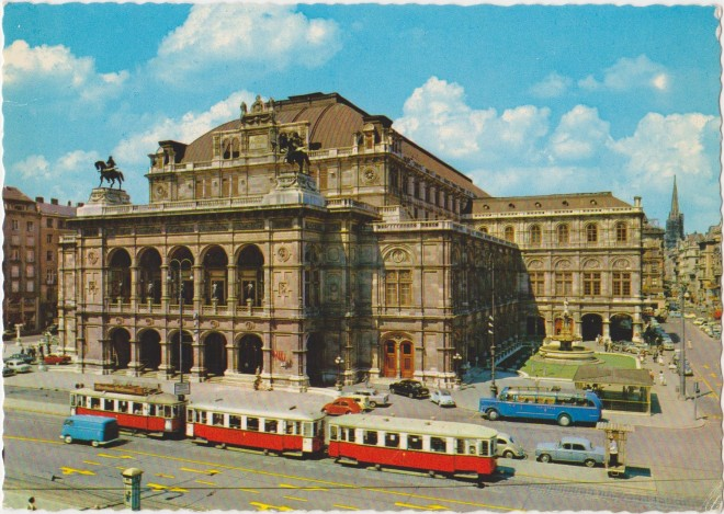 The Opera House Vienna - this postcard looked dated even in the 80s!