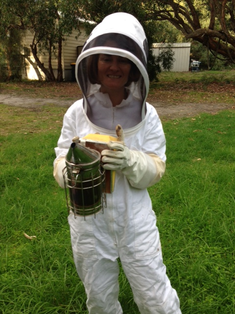 Yours Truly in a bee suit