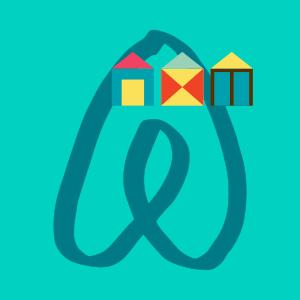 My Airbnb symbol - spot the beach huts!