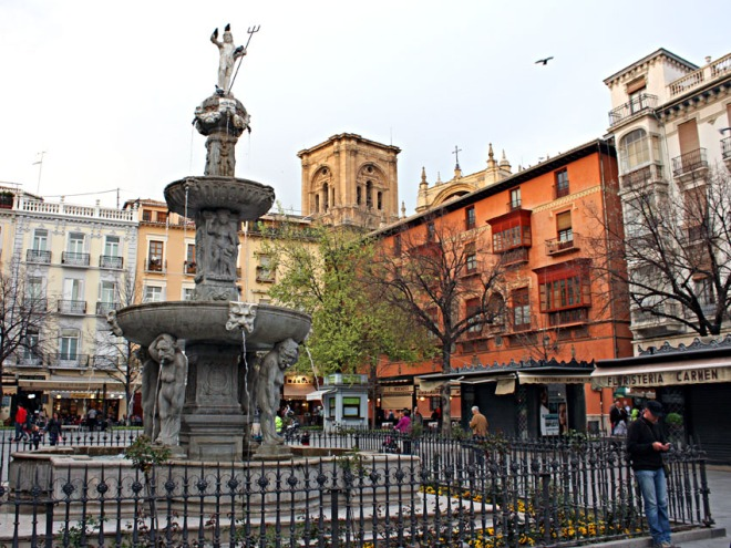 The Plaza Bibarrambla, Granada