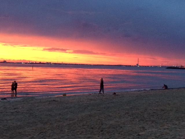 Sunset on St Kilda Beach - 8th January