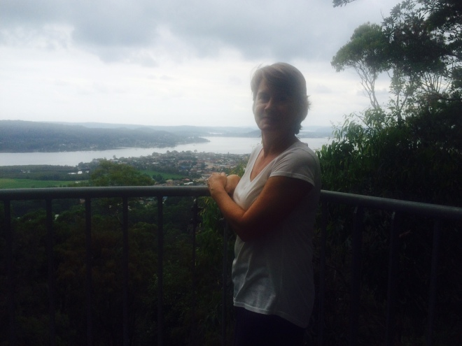 Nicki looking out over Brisbane Water