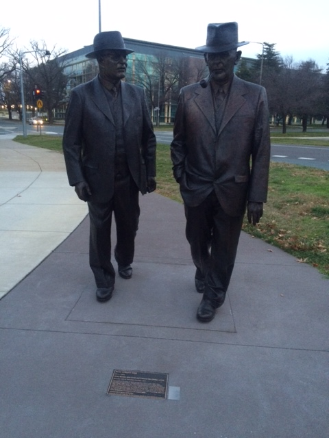 John Curtin and Ben Chifley, 14th and 16th Prime Ministers of Australia respectively